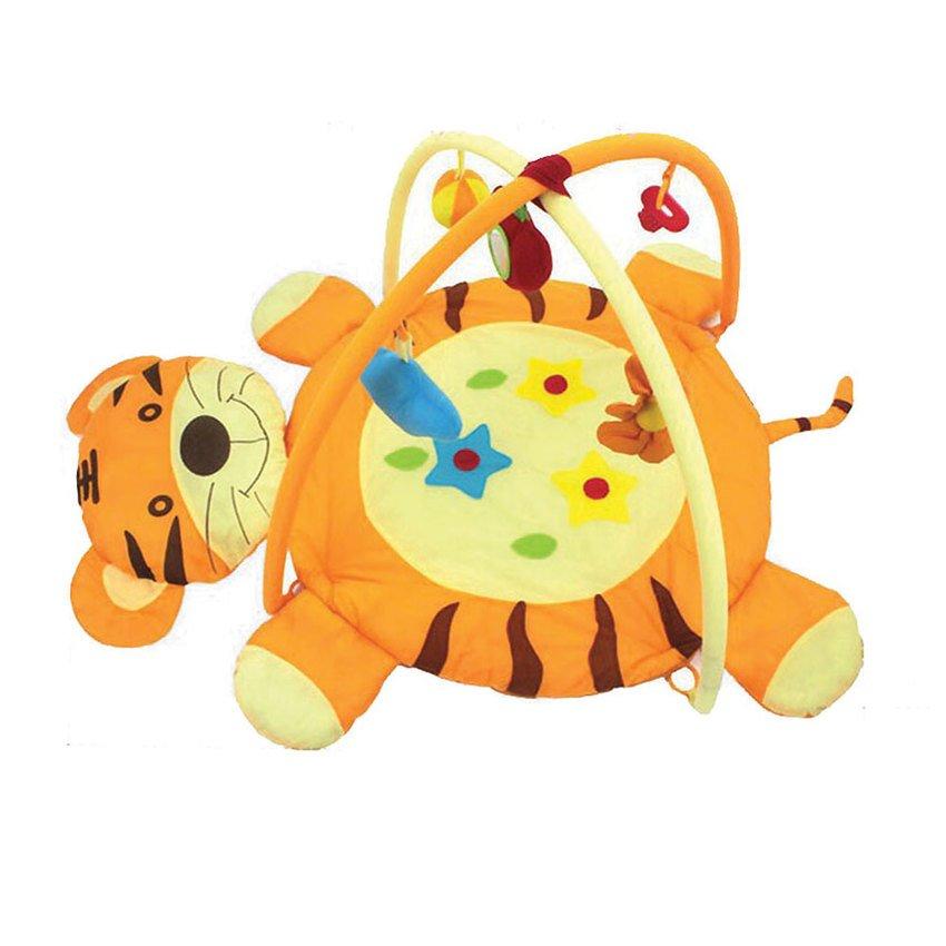 ที่นอนเด็กกระตุ้นพัฒนาการ Play Gym สำหรับเด็ก 0-12 เดือน - ลายเสือน้อย