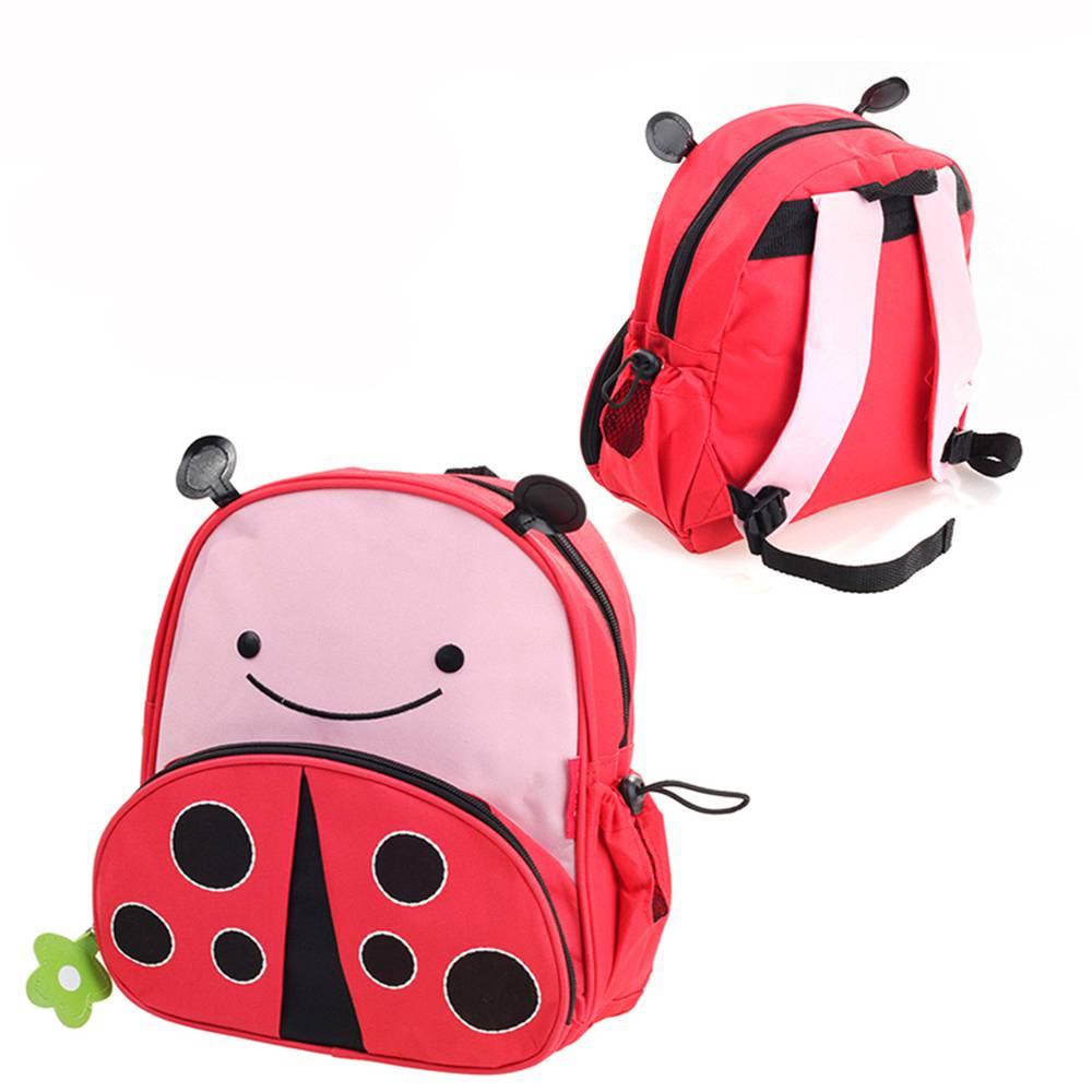 กระเป๋าการ์ตูนเด็ก  รูป lady bug  สำหรับสะพายหลัง  กันน้ำ