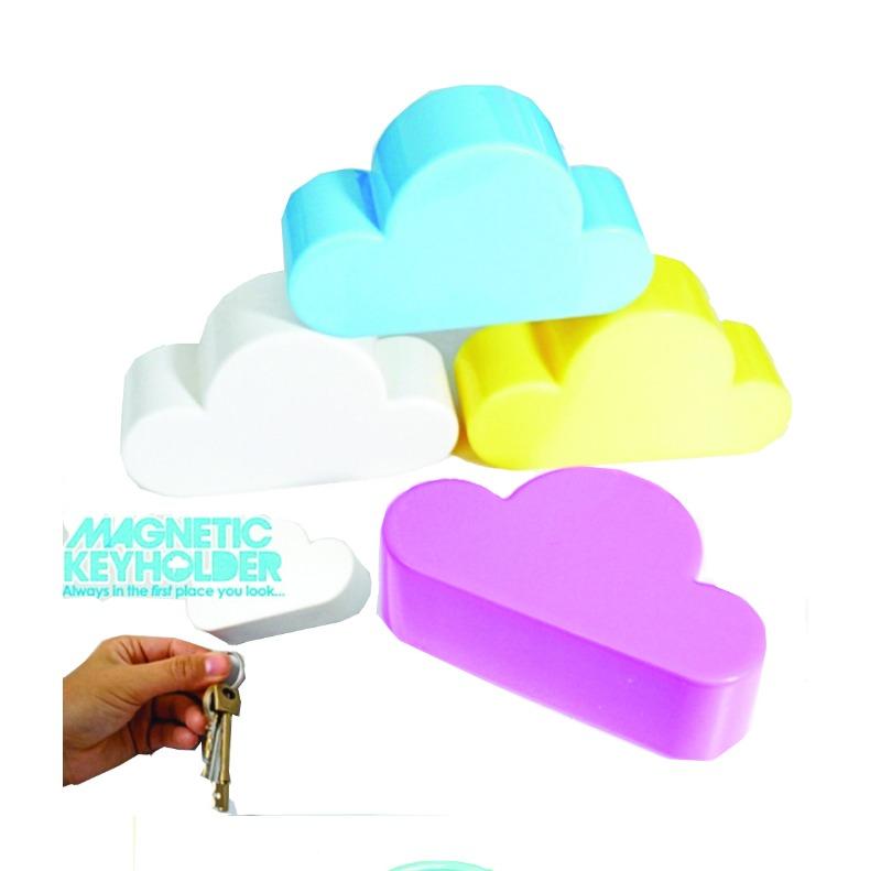 ที่่แขวนกุญแจ รูปเมฆ แบบแม่เหล็ก     สำหรับติดผนัง