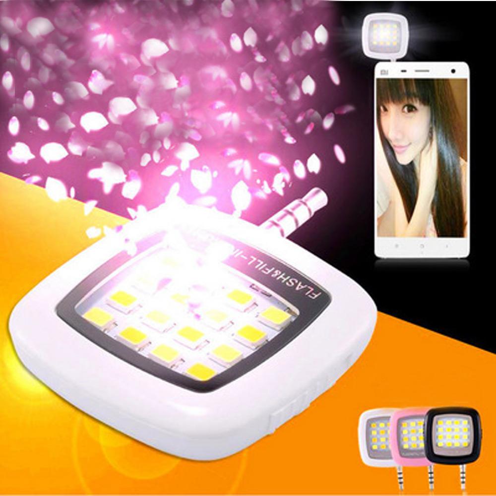 ไฟแฟลชโทรศัทพ์มือถือ LED - white (16LED)+สายusb