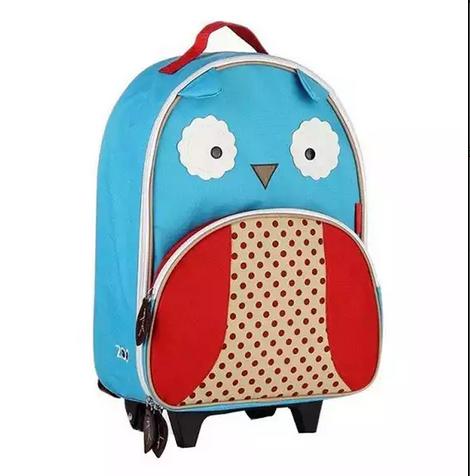 กระเป๋าเป้+ล้อลาก สำหรับเด็กไปโรงเรียน ลายนกฮูก