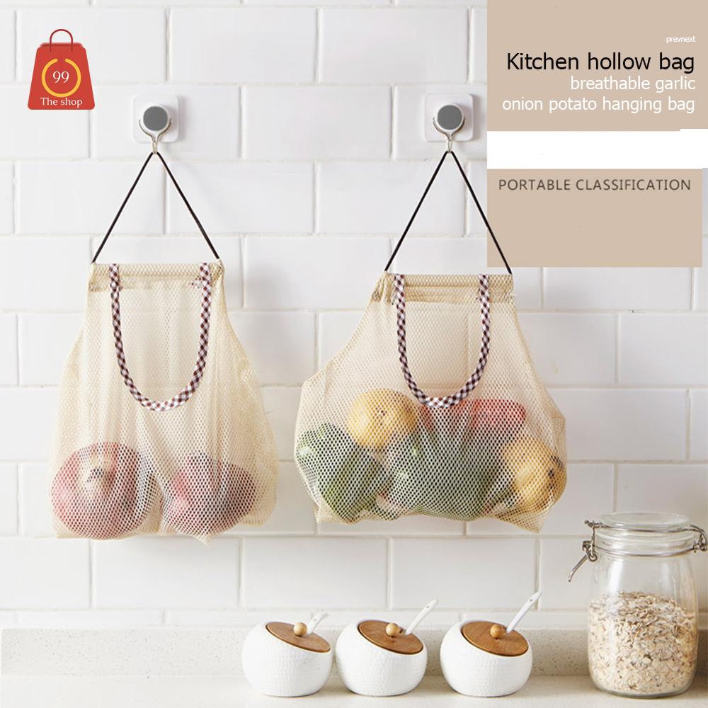 hollow bag ถุงใส่ผักกระเทียมหัวหอมหรือของใช้อื่นๆๆ อเนกประสงค์