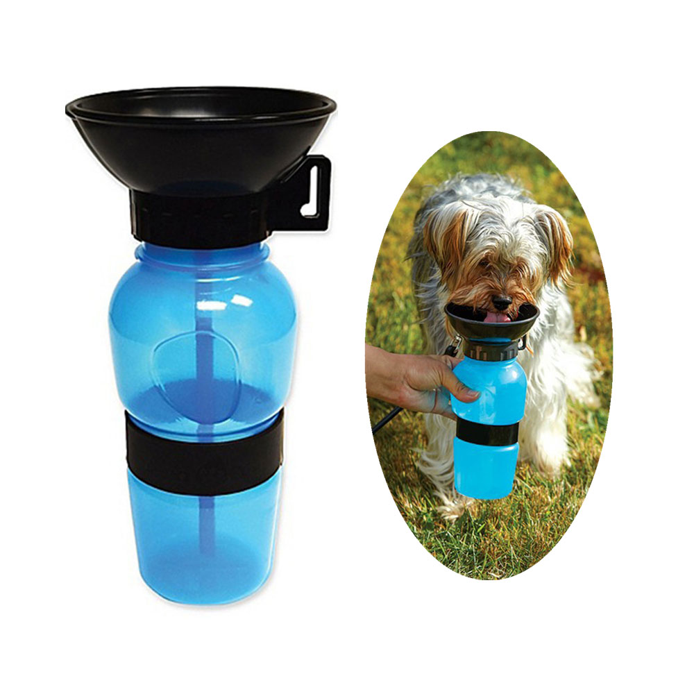 ที่ให้น้ำสุนัขแบบพกพา กระบอกให้น้ำสุนัขขนาด20ออนซ์ ไม่หกเลอะเทอะ พกพาง่าย ใช้งานสะดวก