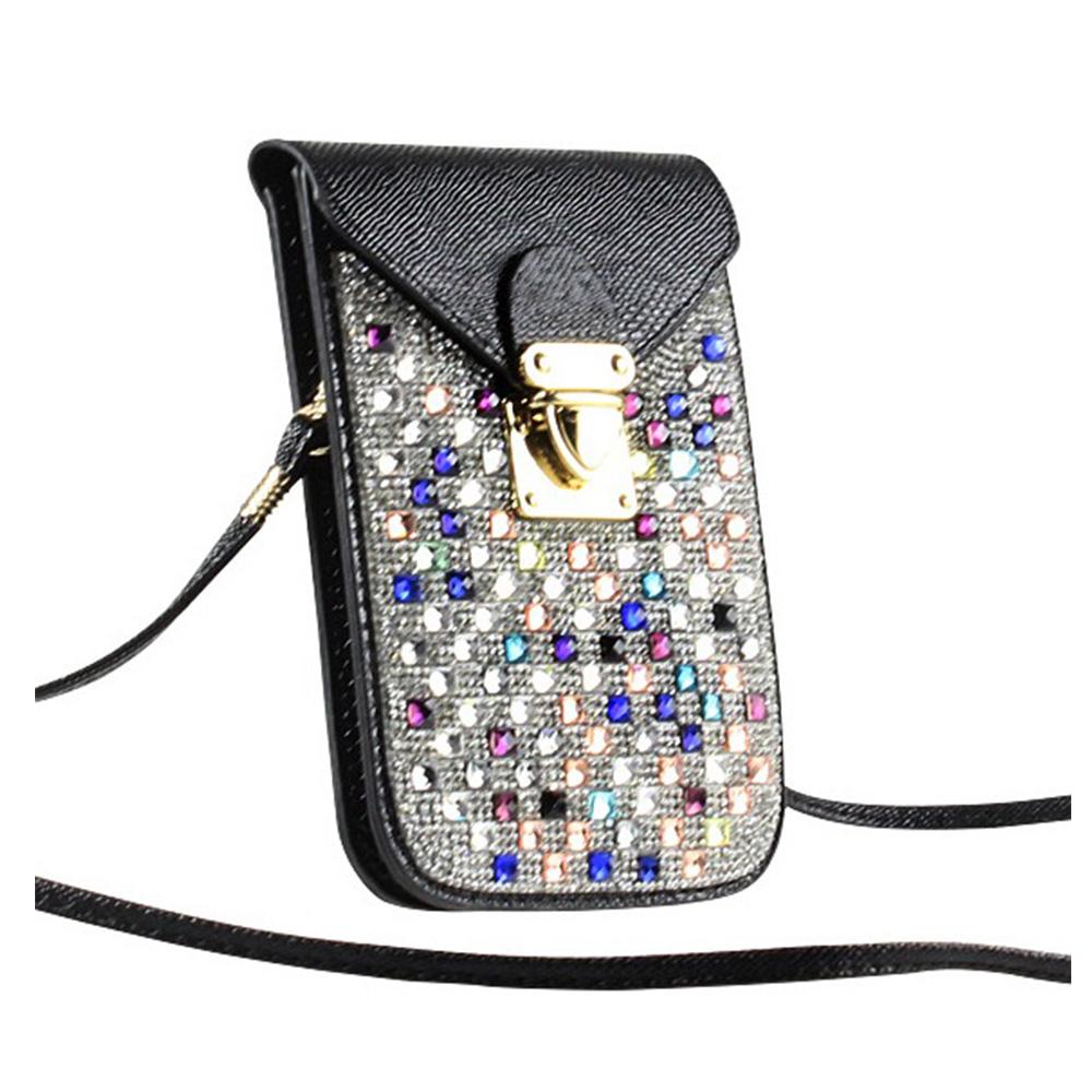 กระเป๋าสะพายข้าง ประดับเพชร  ไว้ใส่มือถือหรือเงิน สวยมากๆ มี 3 สี
