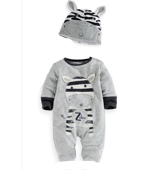 ชุดหมีขายาว ลายเสื้อม้าลาย ผ่าดีเนื้อนิ่ม สำหรับเด็ก 6-24 เดือน