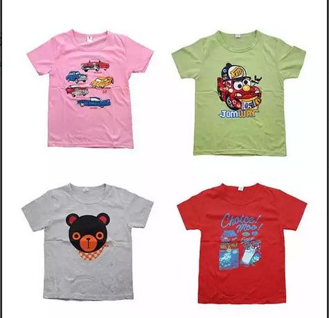 เสื้อยืดเด็กอายุ 2- 10 ขวบ เซ็ต 4 ตัว -