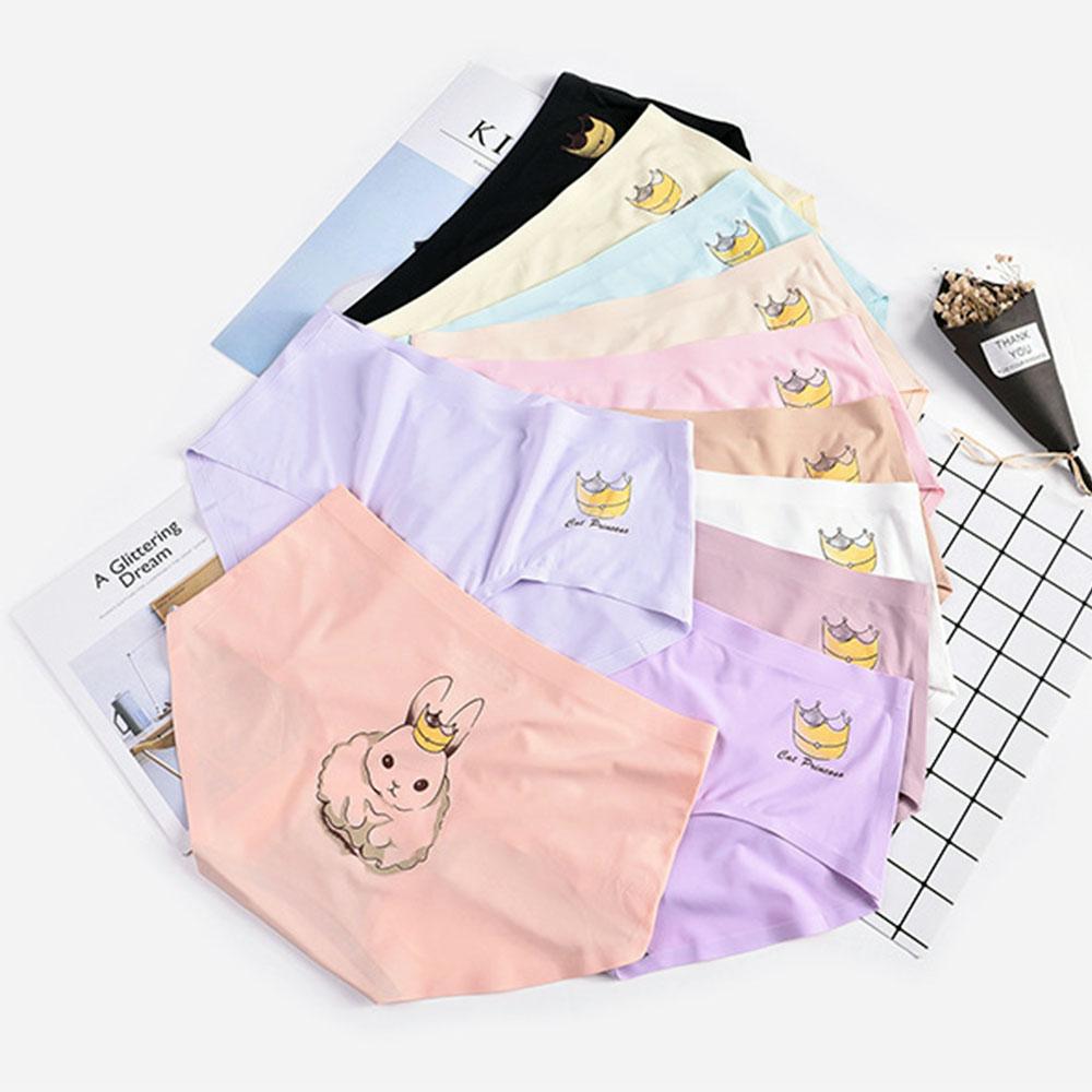 กางเกงในไร้ขอบแบบเต็มตัว  รุ่น ลายการ์ตูน free size  เอว 25-32 นิ้วใส่ได้