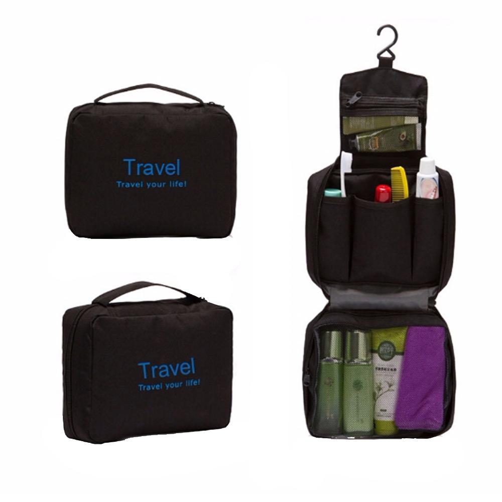 กระเป๋าใส่อุปกรณ์อาบน้ำ เครื่องสำอาง และของใช้ส่วนตัวต่างๆ มีที่แขวน กันน้ำ พกพาในเวลาเดินทาง