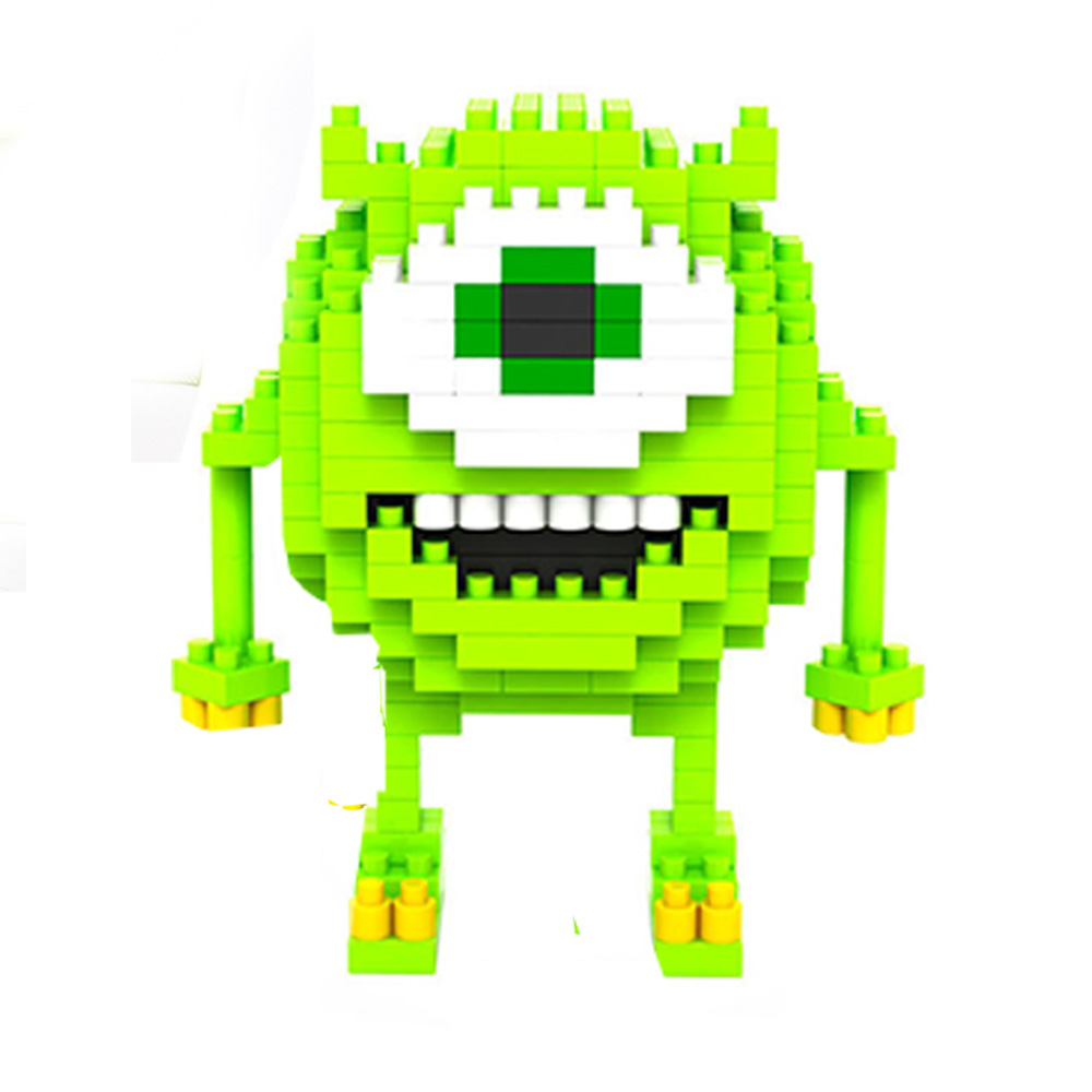 ชุดตัวต่อ loz ขนาดใหญ่ แบบ monster  สูง 18 cm ตัวเขียว