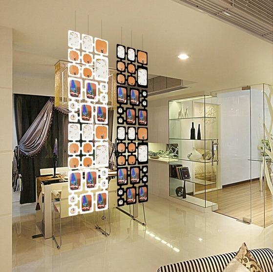 ฉากกั้นห้อง DIY ใส่รูปได้ ทำจาก PP ติดตั้งง่าย เบา จำนวน 2 ชุด 1.28ตารางเมตร