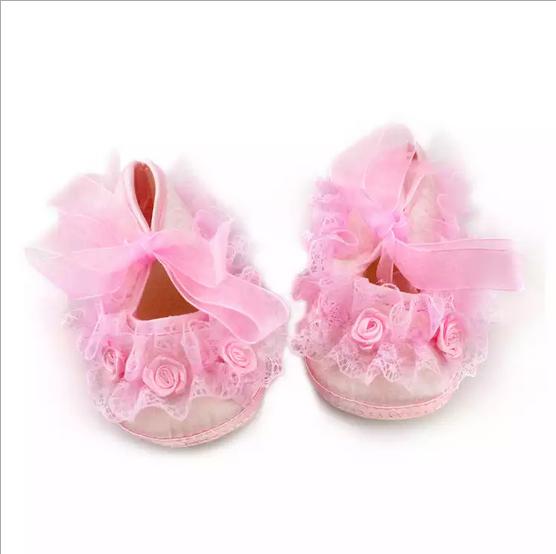 รองเท้าเด็กอ่อน ระบายลูกไม้ น่ารักมาก สำรหับเด็กแรกเกิด