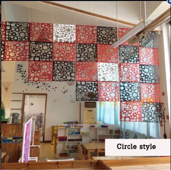 แผ่นตกแต่งห้อง PVC แบบวงกลม สำหรับกั้นห้อง DIY  ขนาด 3ตารางเมตร 5 แพค มี3สี