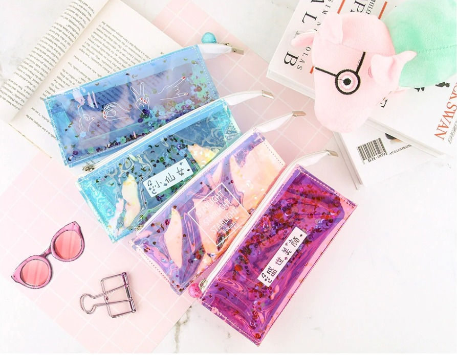 กระเป๋าใส่ดินสอ กระเป๋าเครื่องสำอาง ลายเลเซอร์ สวยมาก มีหลายแบบ
