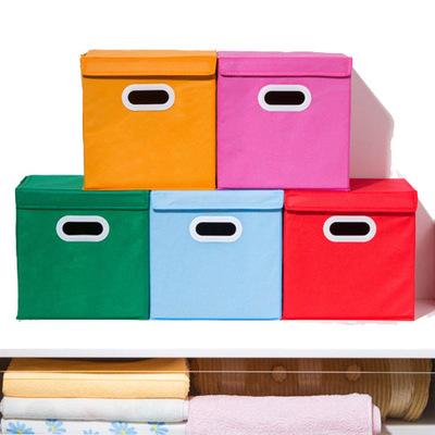 กล่องใส่ของพับได้มีฝาปิด หลากสี ไว้ตกแต่งจัดระเบียบ