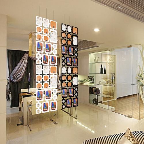 ฉากกั้นห้อง DIY ใส่รูปได้ ทำจาก PP ติดตั้งง่าย เบา จำนวน 2 ชุด 1.28ตารางเมตร - สีขาว