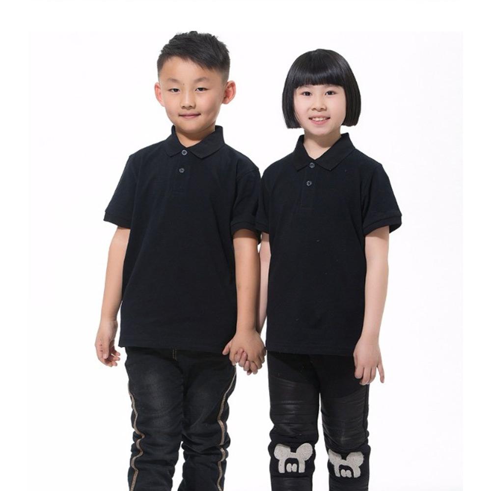 เสื้อโปโลเด็ก เนื้อ CVC หนัก 220g/m เนื้อผ้าใส่สบาย นิ่ม คงตัว ยับยากระบายอากาศดี