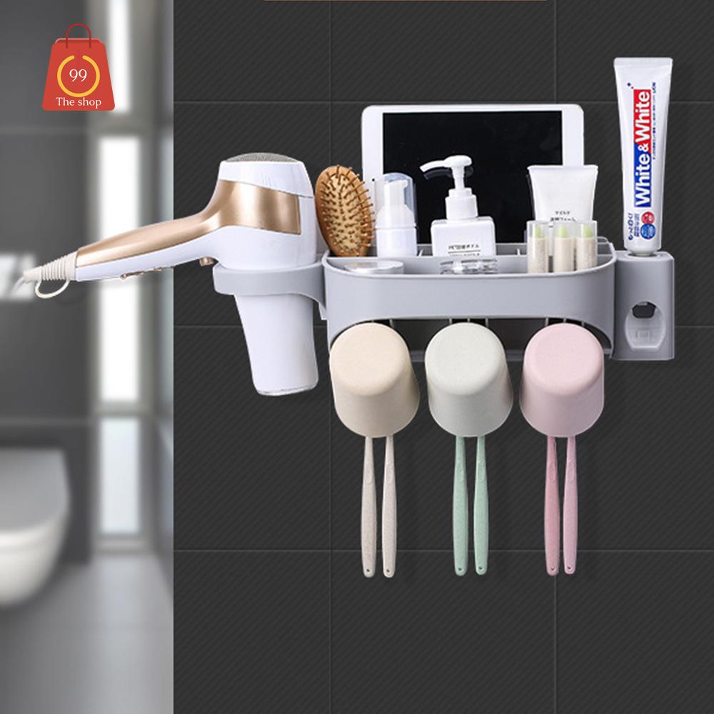 ที่แขวนแปรงสีฟันพร้อมแก้วน้ำ และที่บีบยาสีฟัน