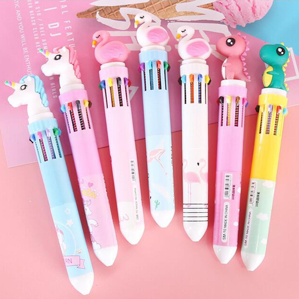 ปากกา 10สีใน1 แ่ท่ง หัวแฟนซี