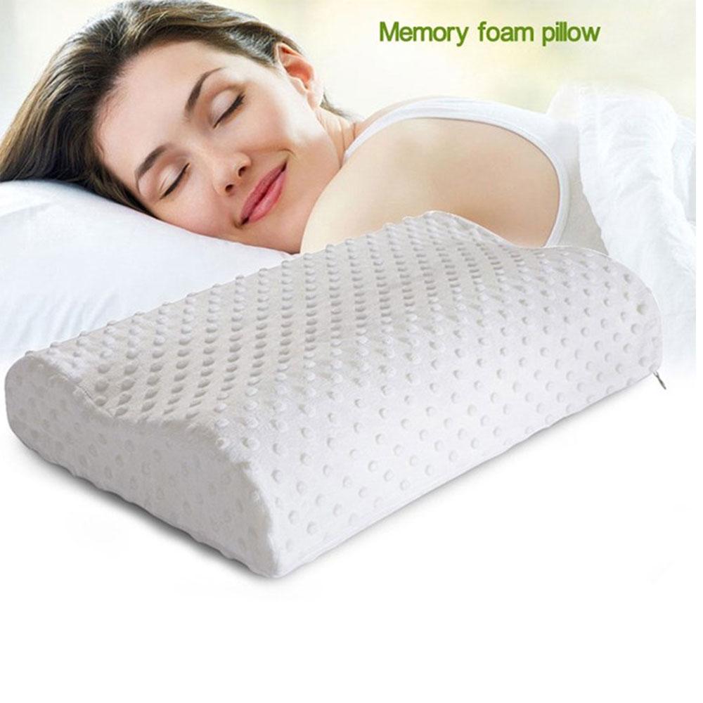 หมอนเมมโมรี่โฟม memory foam pillow  นอนไม่ปวดคอ ศรีษะไม่ร้อนไม่ปวดหัว
