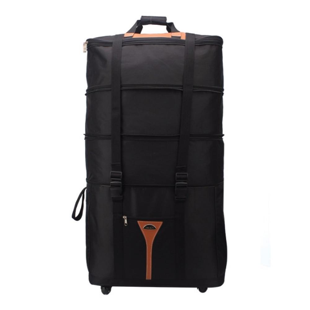 กระเป๋าเดินทางพับได้ มีล้อลาก ยืดขยายได้ เพิ่มถึง 3 ชั้นผ้ากันน้ำ