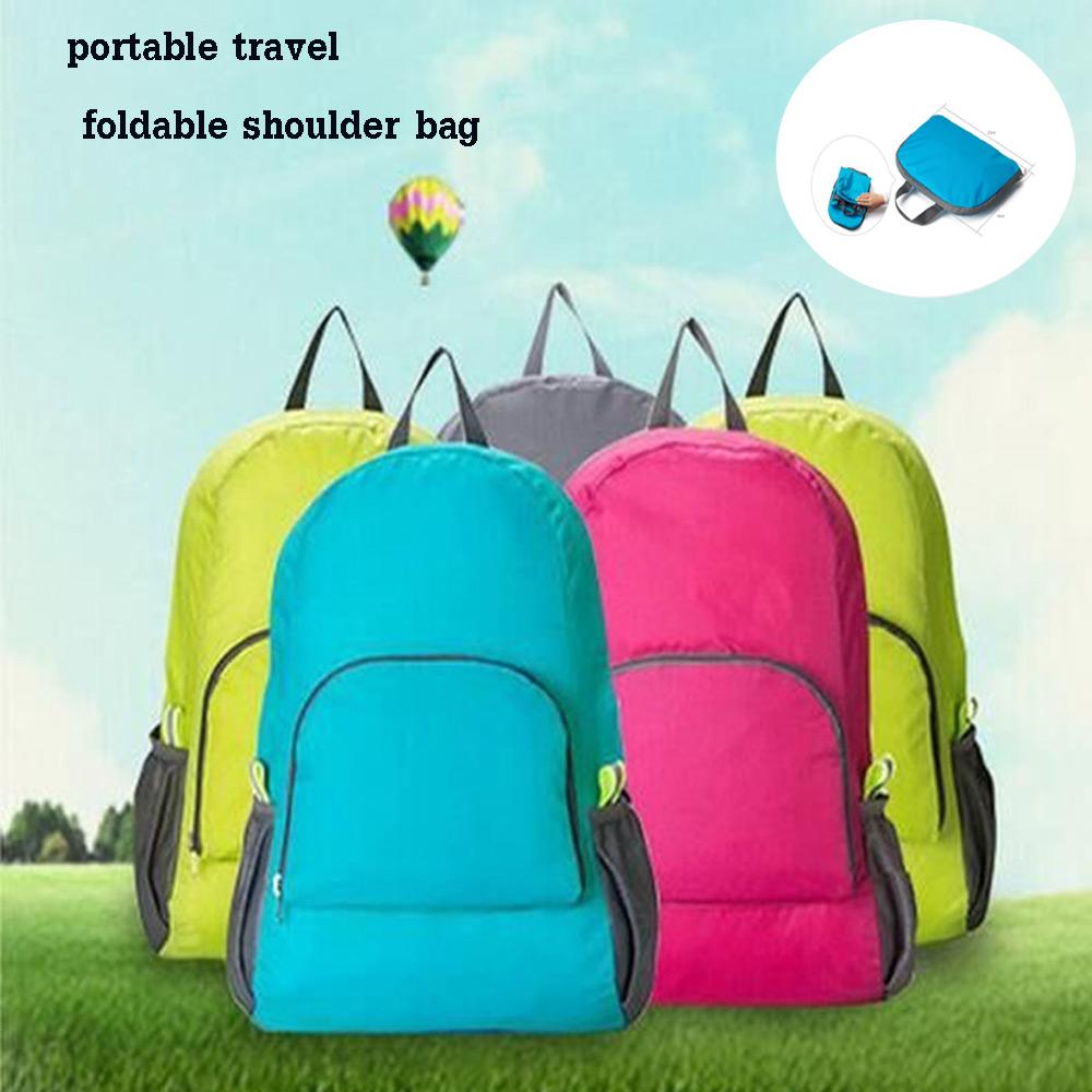 กระเป๋าเป้อเนกประสงค์ กันน้ำและพับเก็บได้สีสันสดใส มีหลายสีให้เลือก