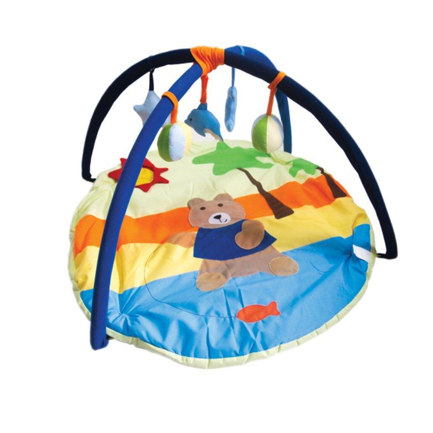ที่นอนเด็กกระตุ้นพัฒนาการ Play Gym สำหรับเด็ก 0-12 เดือน ลายหมีน้อย - สีน้ำเงิน