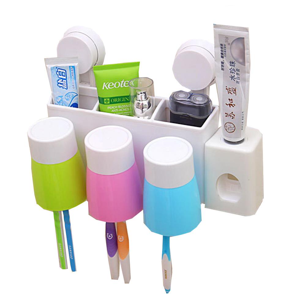 ชุดเซ็ตที่ใส่ปรงสีฟัน แก้วน้ำและเครื่องบิบยาสีฟันอัตโนมัติ แบบ แก้วสามแก้ว