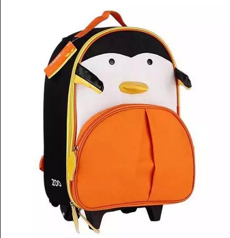 กระเป๋าเป้+ล้อลาก สำหรับเด็กไปโรงเรียนแพนกวิน