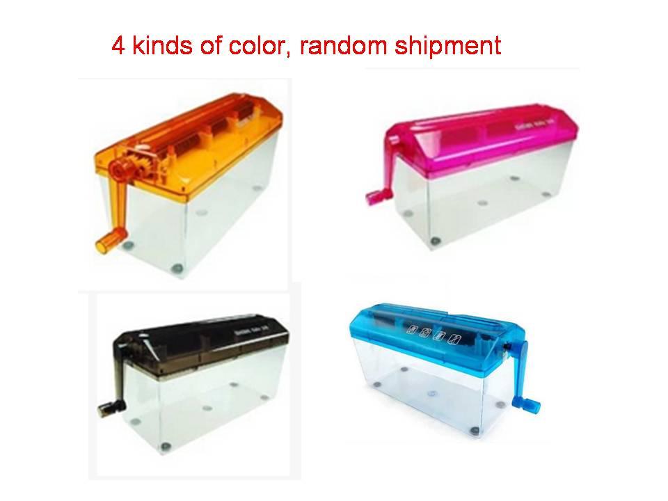 เครื่องทำลายกระดาษ แบบมือหมุน ้ A4  , hand shredder
