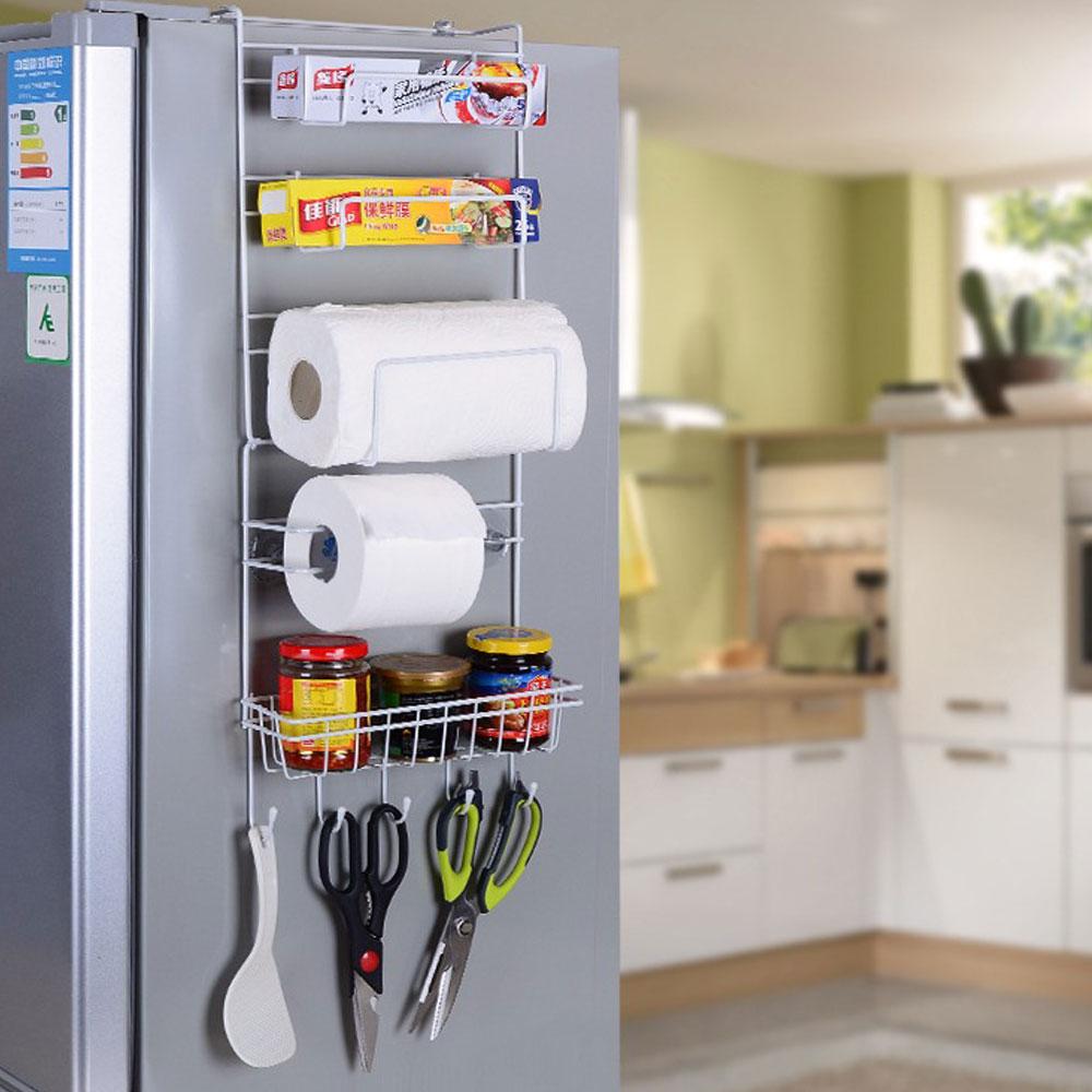 ที่แขวนอเนกประสงค์สำหรับติดหลังตู้เย็น ประหยัดพื้นใส่ของได้มาก