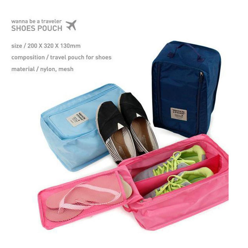 กระเป๋ารองเท้า กระเป๋าใส่รองเท้า Shoes Pouch Portable Shoes Organizer Shoes Bag