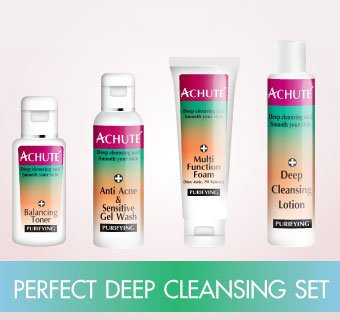 PERFECT DEEP CLEANSING SET ชุดทำความสะอาดครบวงจรแบบประหยัดดกว่า