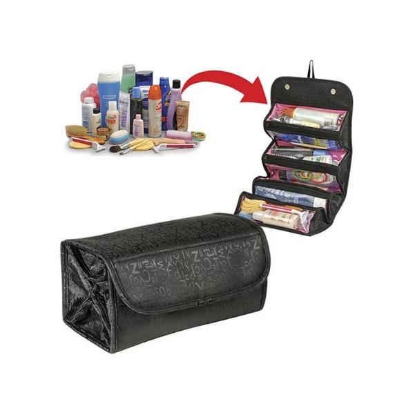 กระเป๋าจัดเก็บเครื่องสำอาง รุ่น มีซิป 4 ช่อง แบบ PVC