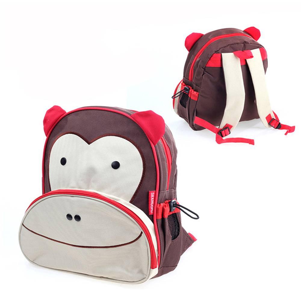 กระเป๋าการ์ตูนเด็ก  รูปลิงน้อย  สำหรับสะพายหลัง  กันน้ำ