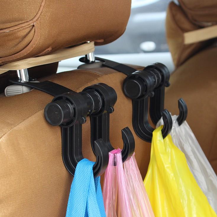 ตะขอสำหรับเกี่ยวของ หลังเบาะในรถ  รับน้ำหนักได้้ ถึง 7 โล ติดตั้งง่าย 1ชุด 2 ชิ้น