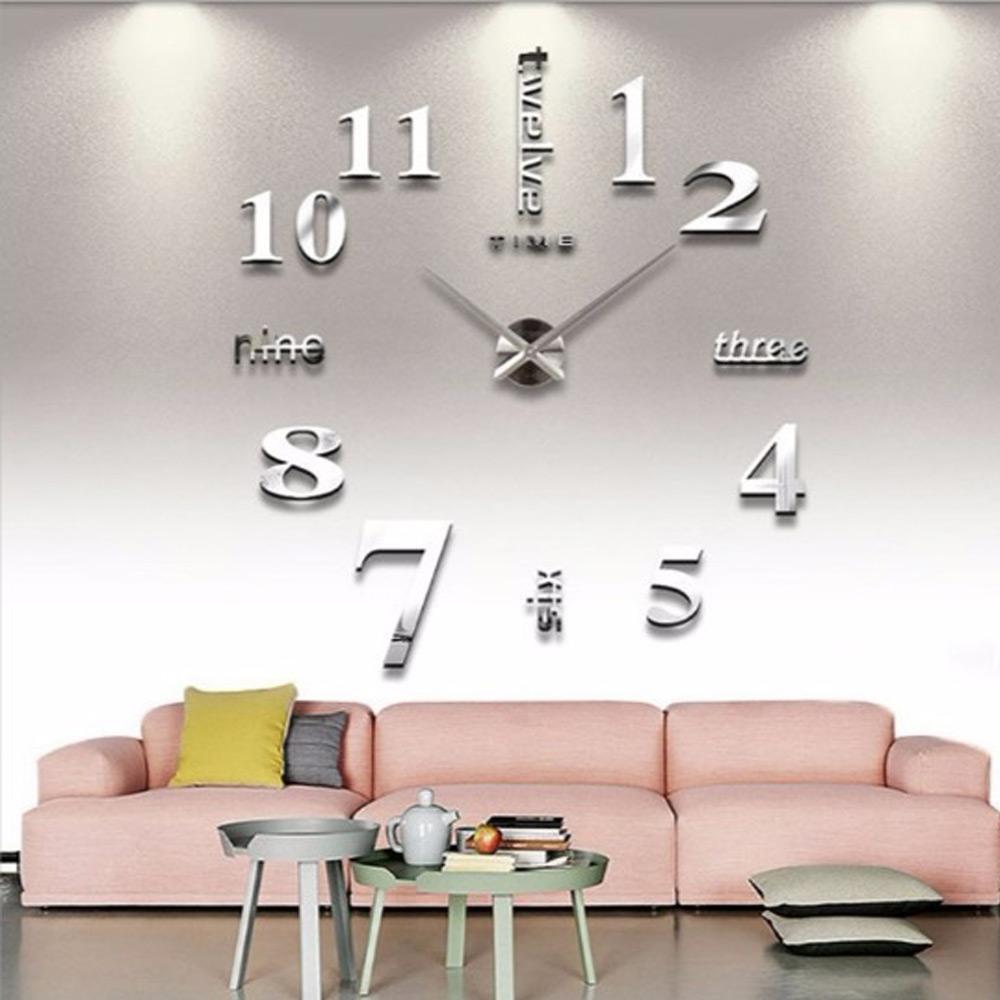นาฬิกาสติกเกอร์ติดผนัง 3D ขนาดใหญ่ 100*100  cm