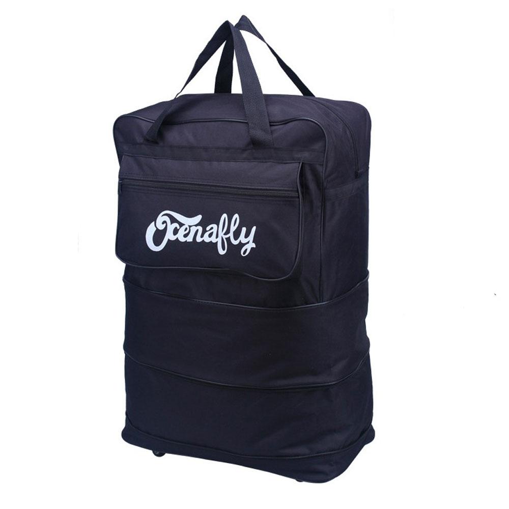 กระเป๋าเดินทางแบบพับเก็บได้ ประหยัดพื้นที่มาก มีล้อไว้ลาก สามารถถือหรือสะพายได้
