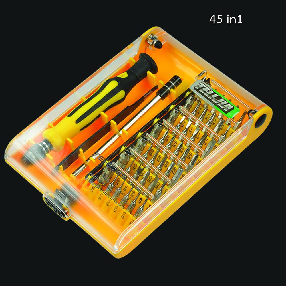 ชุดเครื่องมือ ไขควงอเนกประสงค์ 45 in 1 มาพร้อมปากคีบปลายแหลม