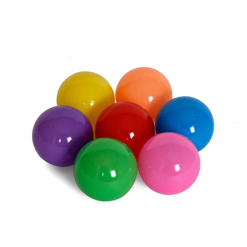 ลูกบอลพลาสติก grade AA  ปลอดสารพิษ นั่งทับแล้วไม่แบน 5.5 cm