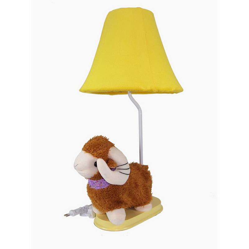 โคมไฟตั้งโต๊ะ  รูป แกะน้อย สีเหลือง