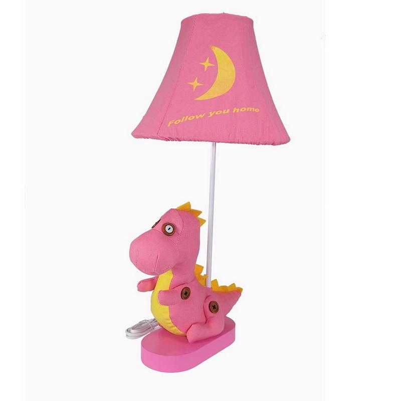 โคมไฟตั้งโต๊ะ  รูปไดโนเสาร์น้อยสีชมพู