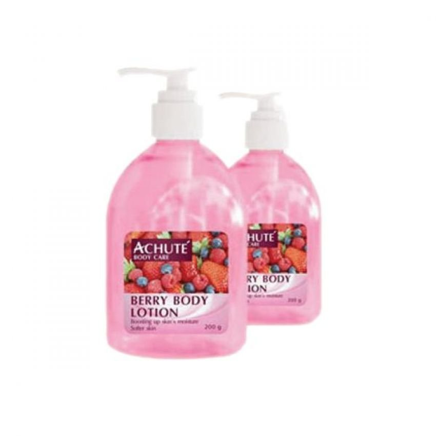 Achute'  Berry Lotion โลชั่นบำรุงผิวกลิ่นหอมกลิ่นเบอรรี่ ช่วบบำรุงผิวให้เนียนนุ่มชุ่มชื้น ปรับสภาพผิวให้กระจ่างใส
