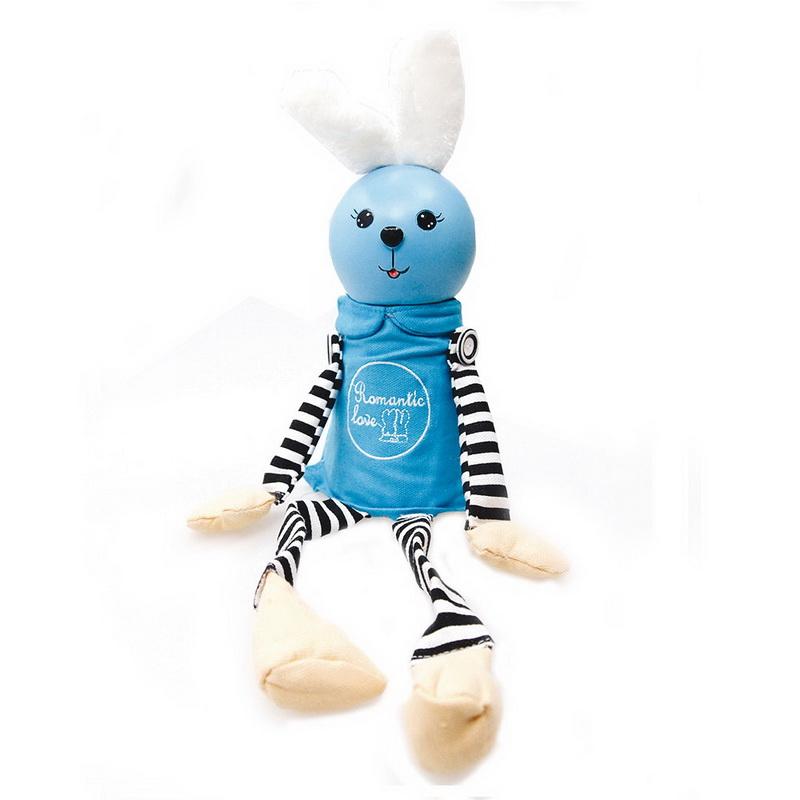 กระปุกออมสินกระต่ายน้อย สีฟ้า ทำจากเรซิน