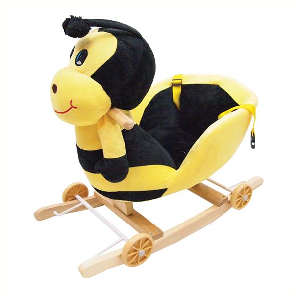 ม้าโยกเยกตุ๊กตารูปผึ้ง - สีเหลืองดำ