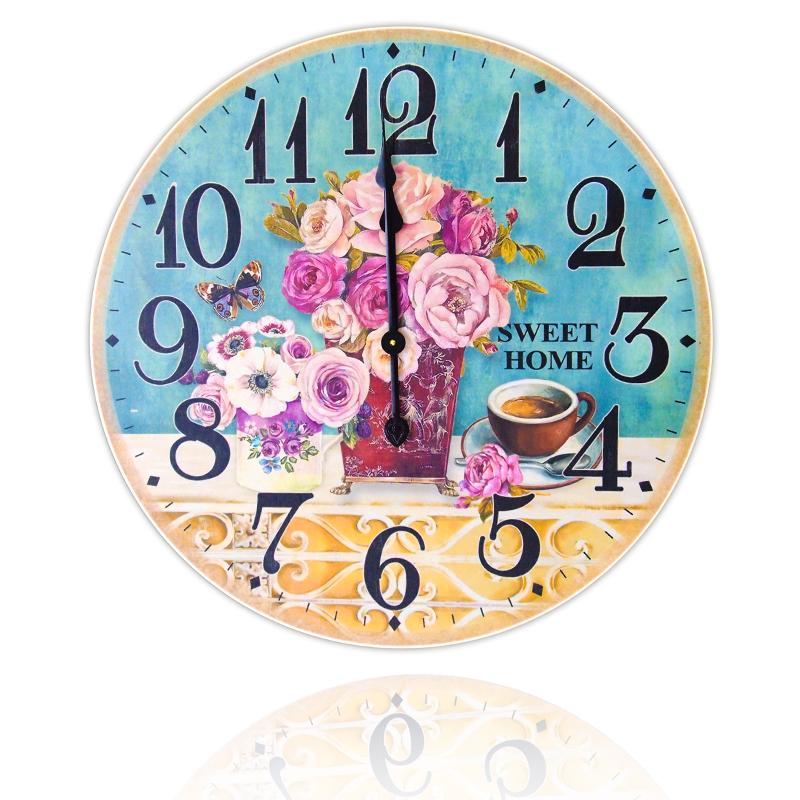 นาฬิกาแขวนติดผนังสไตล์วินเทจ วงกลมอันใหญ่