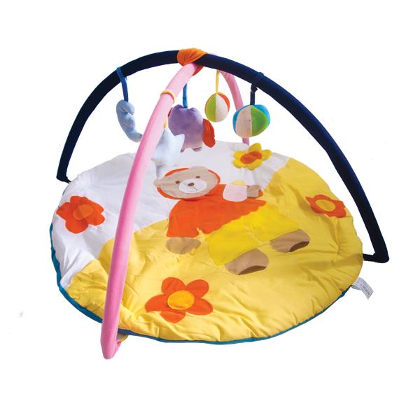 ที่นอนเด็กกระตุ้นพัฒนาการ Play Gym สำหรับเด็ก 0-12 เดือน-ลายหมีน้อย